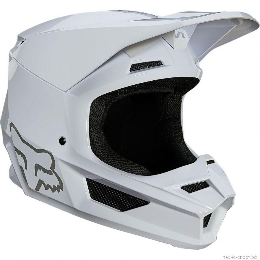 Мотошлем Fox V1 Plaic Helmet White