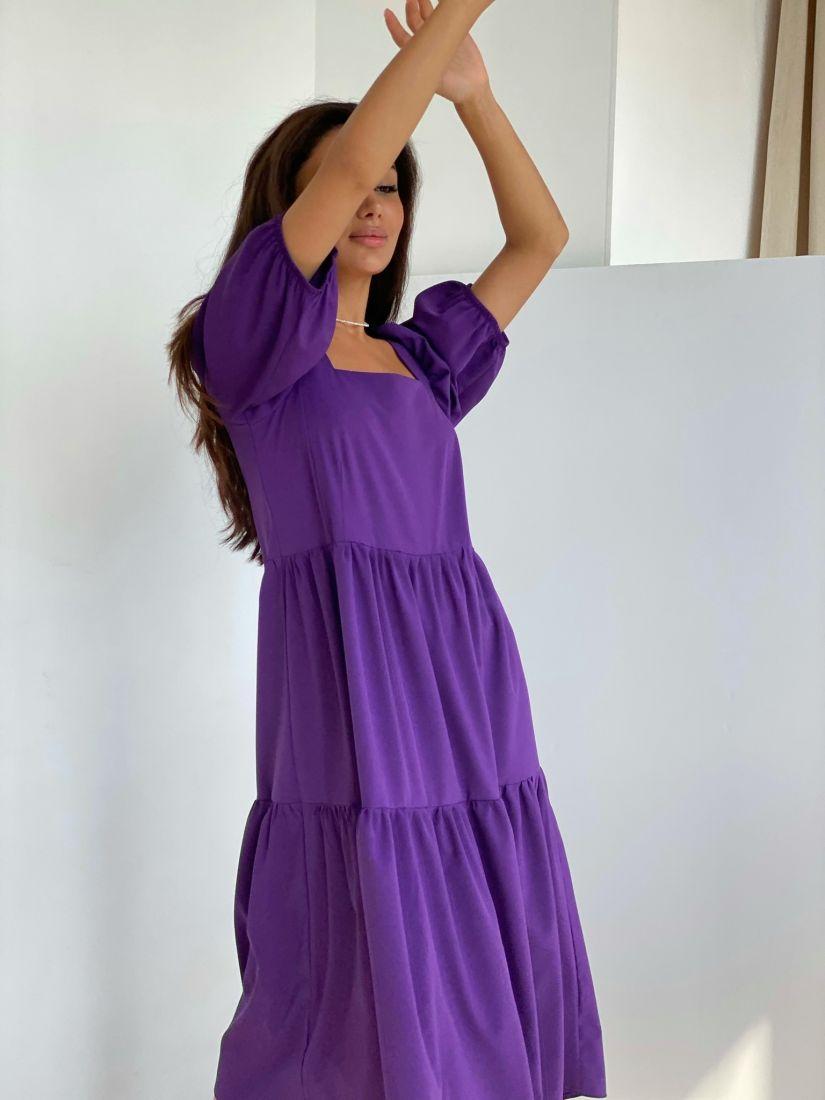 4417 Платье-парашют фиолетовое