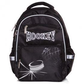 Рюкзак школьный Hatber Soft 37 х 28 х 17, для мальчика Hockey, чёрный