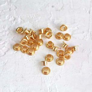 Люверсы металлические, D 6 мм., высота 6 мм., 18 шт. цвет - Золото