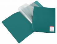 Папка файловая пластиковая ErichKrause® Standard, с 10 прозрачными карманами, A4, зеленый (в пакете по 5 шт.)