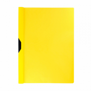Папка-клип пластиковая ErichKrause® Clipfile, A4, желтый (в пакете по 12 шт.) (арт. 14875)
