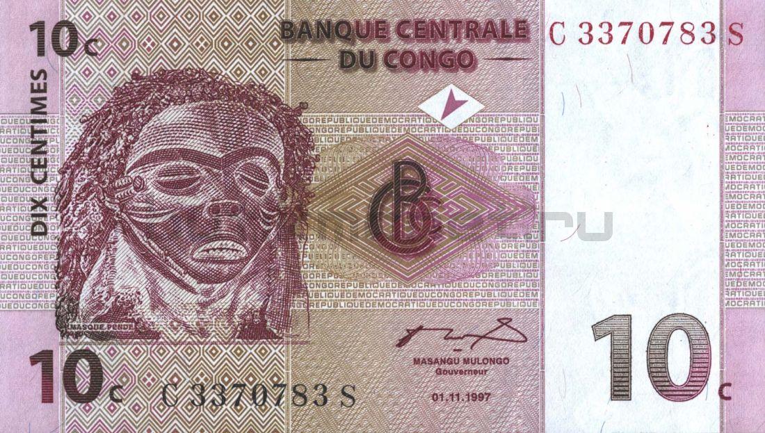 10 сантимов 1997 Конго