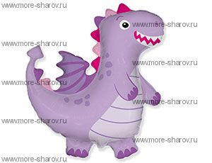 Шар Дракон фиолетовый 92х92см