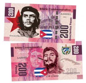 200 песо (Pesos) — Куба. Эрнесто Че Гевара(Che Guevara). Памятная банкнота. UNC