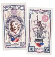 100 долларов (Dollars) — США. Мэрилин Монро(Marilyn Monroe). Памятная банкнота. UNC