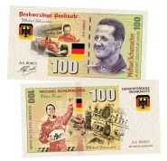 100 марок (Deutsche mark) — Германия. Михаэль Шумахер(Michael Schumacher). Памятная банкнота. UNC
