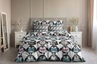 Бязь 2-х спальный с евро [в ассортименте] Гвинпины постельное белье