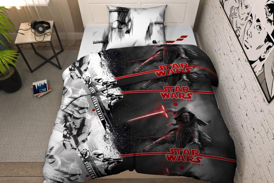Бязь 1.5 спальный [серый] Дисней Звездные войны 5325 Тинейджер постельное белье