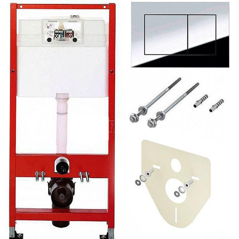 Инсталляция Tece Profil 9400412 для подвесного унитаза с кнопкой смыва ФОТО
