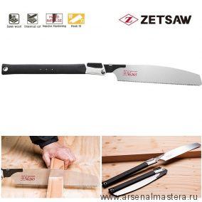 Пила складная японская универсальная для плотников и столяров Kataba VIII 265 265 мм 15TPI толщина 0,6 мм ZetSaw 18401