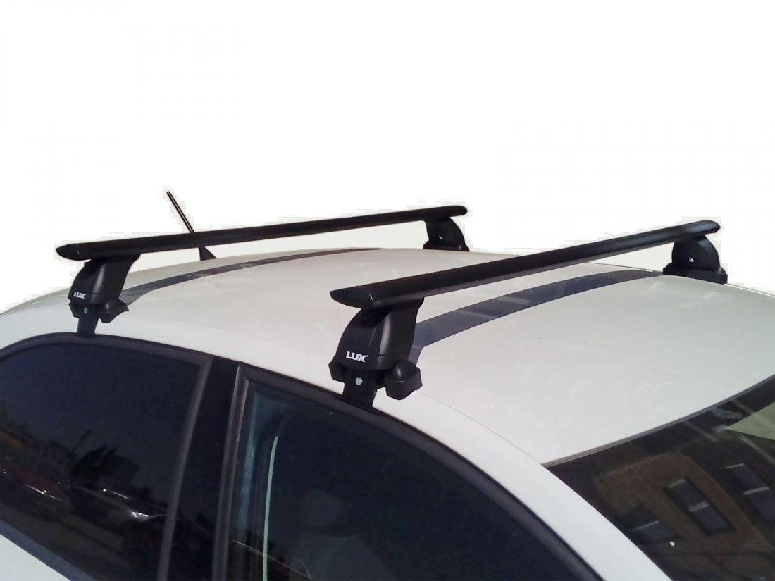 Багажник на крышу Skoda Octavia A8, Lux, черные крыловидные дуги