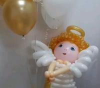 Ангелочек из шариков