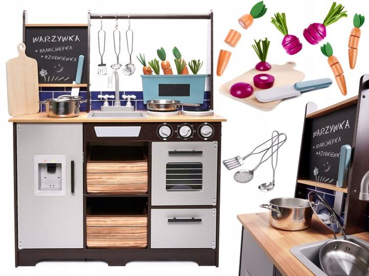 Детская деревянная кухня+С аксессуарами LOFT XXL 96CM