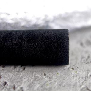 Замша для обуви искусственная двусторонняя - Черная 30х21 см.