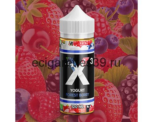 Жидкость X-3 Yogurt Forest Berry, 120 мл.