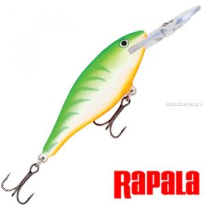 Воблер Rapala Shad Rap 50мм / 6 гр / Заглубление: 1,2 - 2,7 м / цвет:  SR05-GTU