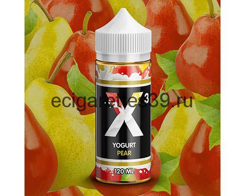 Жидкость X-3 Yogurt Pear, 120 мл.