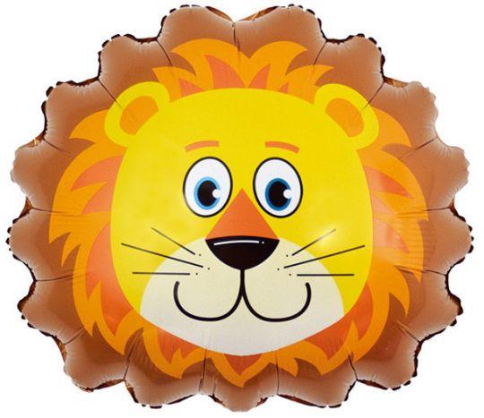 Голова льва фольгированный шар с гелием