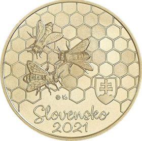 Пчела медоносная 5 евро Словакия 2021на заказ
