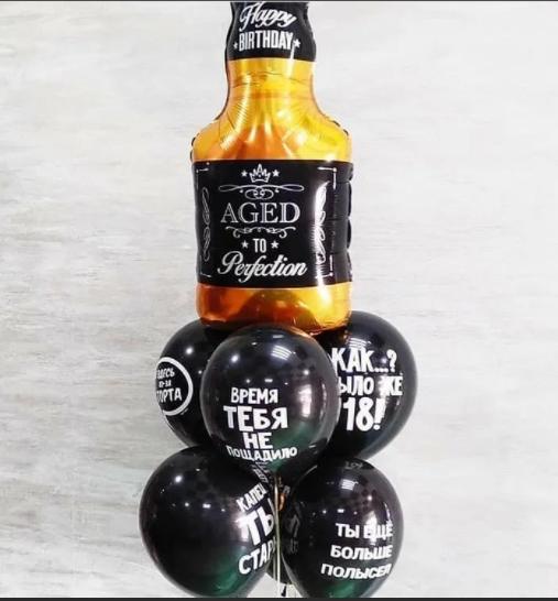 Букет из 7 шаров - Виски