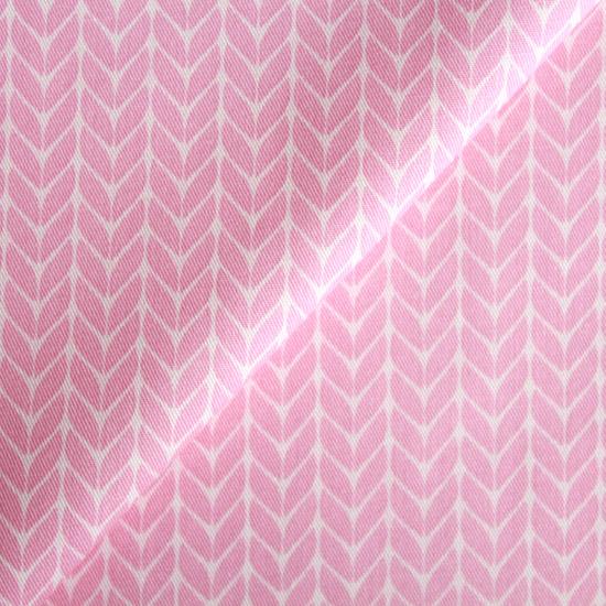 Ткань Хлопок косички на розовом 50x40