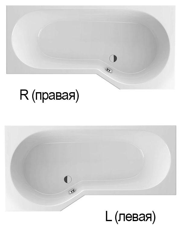 Акриловая ванна Excellent Be Spot 160x80 R без гидромассажа ФОТО