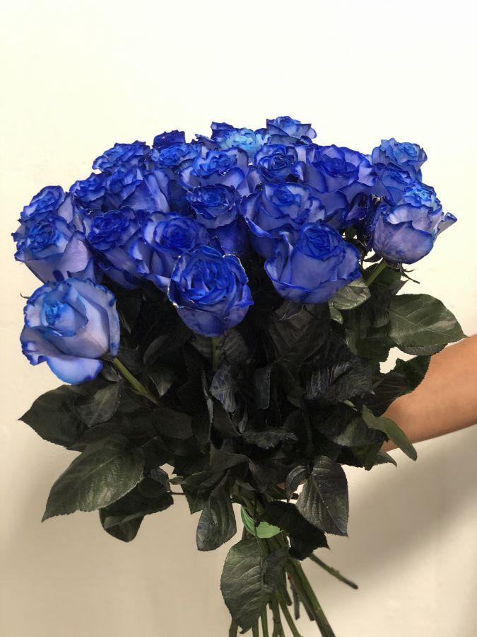 25 Синих роз 60 см