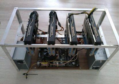 Майнинг-ферма на видеокартах AMD Radeon 6900XT на 4 карты