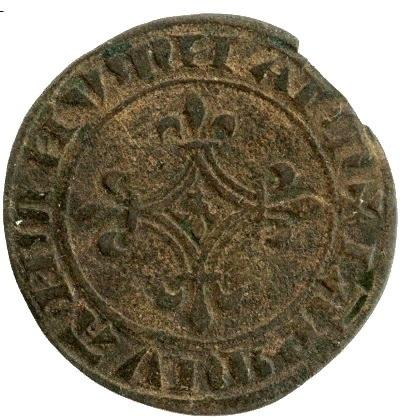 Флоретта 1380-1422 Франция Карл VI Безумный XF