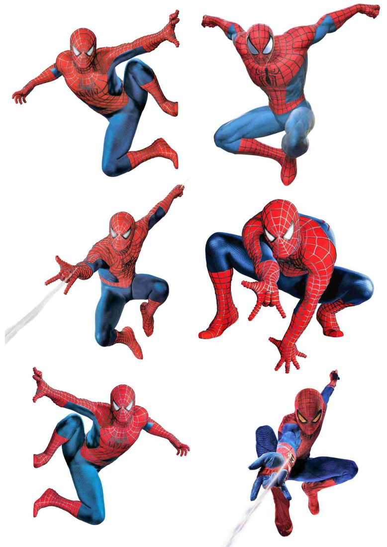 Вафельная картинка Чел паук  (2)
