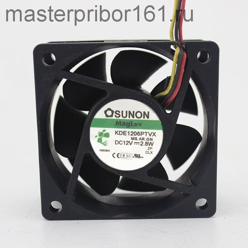 Вентилятор охлаждения SUNON KDE1206PTVX  12V 2.8W 60х60х25