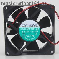 Вентилятор охлаждения SUNON   KD1208PTB1-6A  12V 2.6W 80х80х25