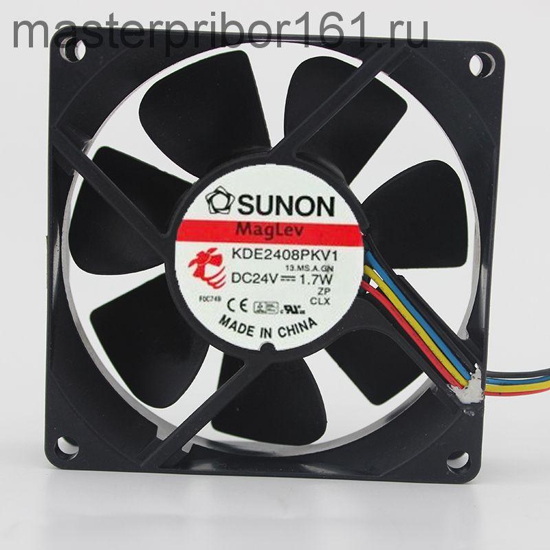 Вентилятор охлаждения SUNON   KDE2408PKV1  24V  1.7W  80х80х20