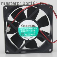 Вентилятор охлаждения SUNON   KDE2408PTB1-6 (PTC1-6A)  24V  3.4W  80х80х25