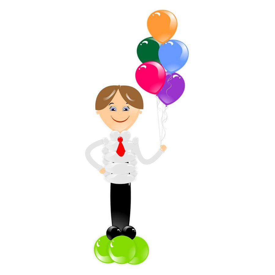 """Фигура из воздушных шаров """"Ученик"""""""