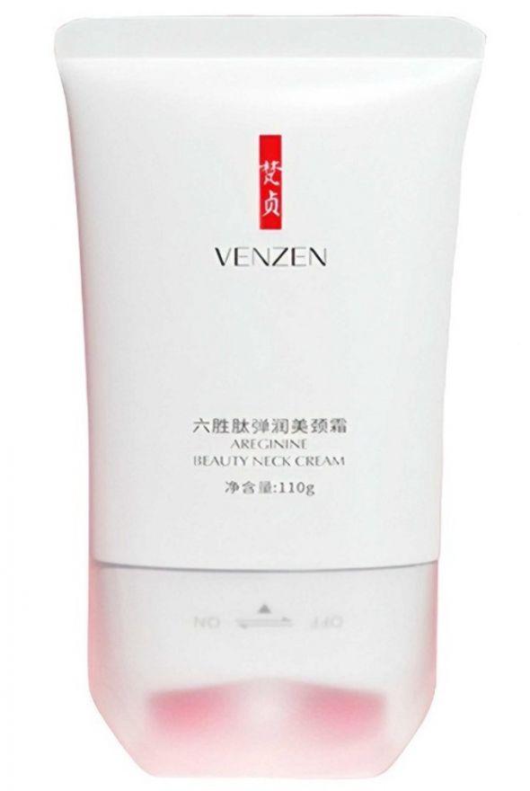 Лифтинг-крем Venzen для области шеи и декольте с массажной роликовой насадкой (UY250)