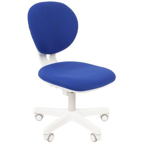 Кресло детское Chairman Kids 108, PL белый, ткань голубая, спинка пластик, регулир. по высоте