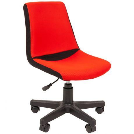 Кресло детское Chairman Kids 115, PL черный, ткань TW черная/красная, регулир. по высоте