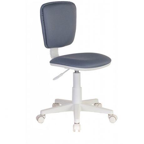 Кресло детское Бюрократ CH-W204NX, PL белый, ткань серый 15-48, без подлокотников