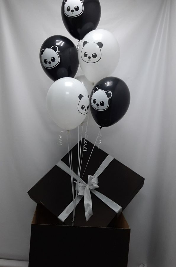 Черная коробка с шариками панды