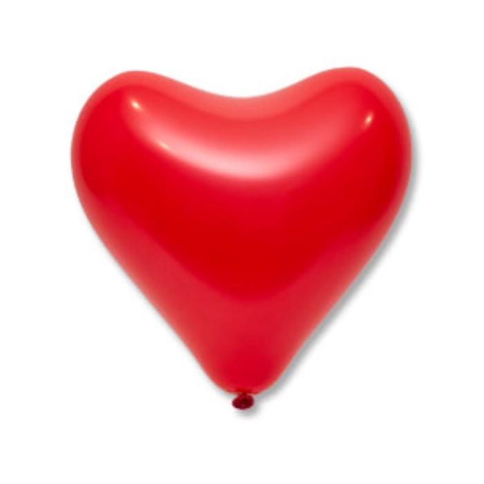 """Шар латексный 12"""", сердце,  цвет красный"""
