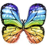 """Шар фольгированный 31"""" «Бабочка. Яркая радуга», фигура, голография"""