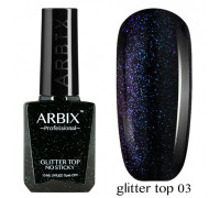 Arbix Glitter Top No Sticky №03 (светоотражающий шиммер !!! без липкого слоя)
