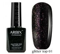 Arbix Glitter Top No Sticky №01 (светоотражающий шиммер !!! без липкого слоя)