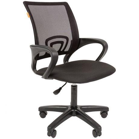 Кресло оператора Chairman 696 LT, спинка ткань-сетка черная/сиденье ткань С черная, регулировка по высоте