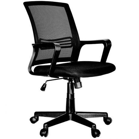 """Кресло оператора Helmi HL-M07 """"Comfort"""", ткань, спинка сетка черная/сиденье TW черная, механизм качания"""