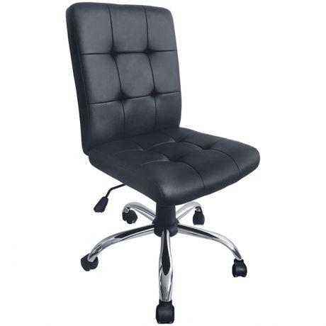 """Кресло оператора Helmi HL-M08 """"Squared"""", экокожа черная, механизм качания, без подлокотников"""