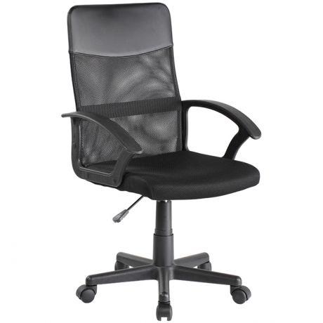 Кресло оператора Helmi HL-M09 LT, ткань/сетка/экокожа черная
