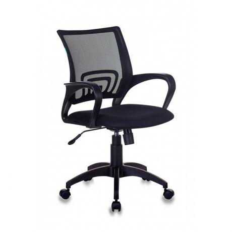 Кресло оператора Бюрократ CH-695N/BLACK, CH, спинка сетка черная TW-01, сиденье ткань черная TW-11, механизм качания (до 150кг)